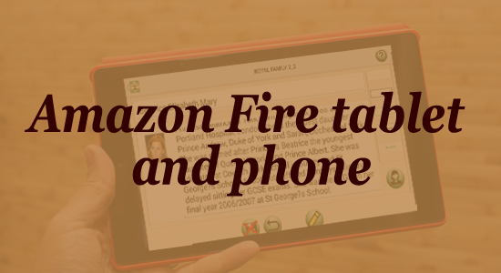 Amazon Fire tablet and phone